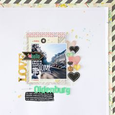 Janna Werner: scrapbooking page with Crate Paper 'Close Knit' and Maggie Holmes 'Flea Market' collections.