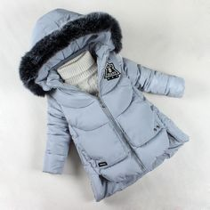 Girls Winter Coat 2017 Brand Fashion Jackets for Girls Thickening Hooded Cotton Outerwear Kids Warm Parkas Baby Girl Clothes