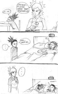 Naruto - Waking father up 1