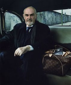 Sean Connery by Annie Leibovitz. I'd love to travel ANYWHERE with him!