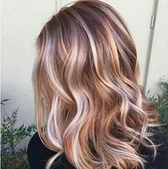 Fun autumn balayage