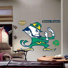 Fathead University of Notre Dame Fighting Irish Logo Wall Decal, Multicolor
