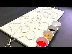 String Pulling with Acrylics!! 006 STRINGS @ 1 CE! Wigglz Art Fluid Art Beginners Technique! - YouTube Abstract Painting Easy, Abstract Canvas Art, Diy Canvas Art, Diy Painting, Pour Painting, Acrylic Pouring Techniques, Acrylic Pouring Art, Painting Techniques, Art For Kids