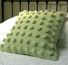 PapertoClothStore. Chunky Hand knitted cushion