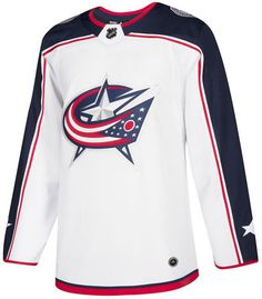 9cd54aa0f adidas Men s Columbus Blue Jackets Authentic Pro Jersey - White 46