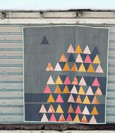 Blue Elephant Stitches: FIELD of TRIANGLES #2