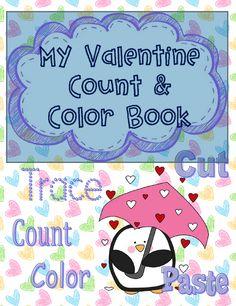 "The Best of Teacher Entrepreneurs: FREE LANGUAGE ARTS LESSON - ""Valentine Color & Number Book Printable"""