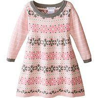 Bonnie Jean Little Girls' Intarsia Floral Sweater Dress