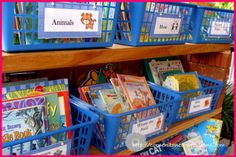 Love the idea of putting books into categories, just like I used to do as a first grade teacher.