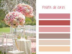 Opções de paleta de cores para decoracao de casamento 02