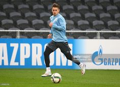 Facundo Castro of Uruguay chases the ball during a Uruguay training session at Otago Stadium prior to the FIFA U-20 World Cup on May 30, 2015 in Dunedin, New Zealand.