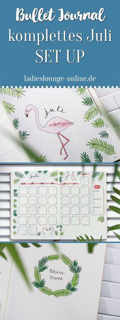 BULLET JOURNAL IDEEN DEUTSCH Inspiration für dein Bullet Journal. Komplettes SET UP für den Juli im Bullet Journal mit Flamingos und Palmen, Habit Tracker, monthly spread, brain dump... #bulletjournalideendeutsch #bulletjournalideen #bulletjournalfüranfänger #bulletjournal #bulletjournalanleitung #monthlyspread #flamingo #palmen #habittracker #tracker