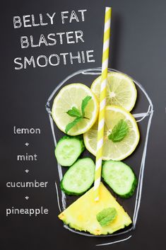 Drink this smoothie and watch it blast away belly fat! Smoothie for weight loss. Recipes for weight loss Belly Fat Blaster Smoothie Recipe Healthy Detox, Healthy Juices, Healthy Drinks, Healthy Snacks, Healthy Breakfast Smoothie Recipes, Healthy Smoothie Recipes, Fat Burning Smoothie Recipes, Diet Recipes, Healthy Water