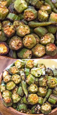 Easy Baked Okra - Healthy Recipes All Day -You can find Okra and more on our website.Easy Baked Okra - Healthy Recipes All Day - Vegetable Snacks, Vegetable Sides, Veggie Dishes, Easy Vegetable Side Dishes, Side Dish Recipes, Healthy Dinner Recipes, Vegetarian Recipes, Vegan Vegetarian, Baked Veggie Recipes