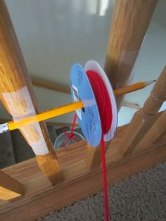 Relentlessly Fun, Deceptively Educational: Simple Machines: DIY Pulley. STEM activity. Make a pulley. Use with Apologia Chemistry & Physics for #homeschool #science lesson http://shop.apologia.com/79-chemistry-and-physics