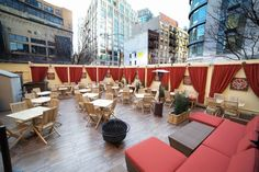 Pera Soho outdoor space.  Can't wait to sit outside very, very soon!
