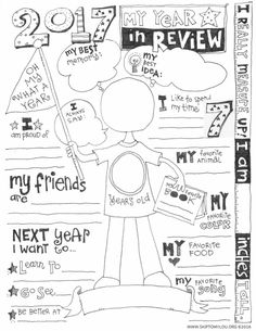 2017 Year In Review Coloring Page (UPDATED)