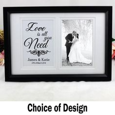 This item is unavailable Wedding Typography, Typography Quotes, Unique Wedding Gifts, Wedding Keepsakes, Double Frame, Frame Display, Australia Living, Love Is All, Personalized Wedding
