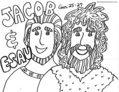 Images Esau And Jacob Coloring Pages 77 On Pictures With Preschool Bible