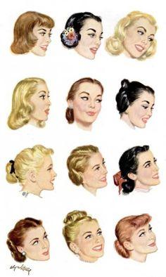 1930s Hair and Makeup  http://idrawpinups.com  http://pinupnet.com  @Pinup Artists Network  #pinup #pinupgirl