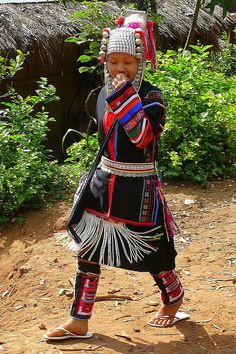 Young Girl Of The Akha Hill Tribe In Thailand