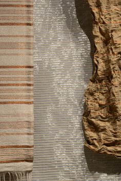 Handwoven textiles in plantain fiber and copper threads or cumare and stainless steel threads #Textile #MetalTextile #Handwoven #Handmade Hand Weaving, Fiber, Copper, Textiles, Stainless Steel, Mood, Metal, Handmade, Blue Prints