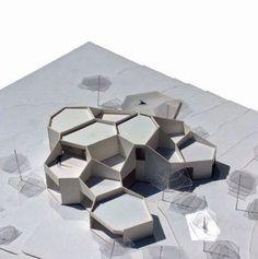 Architettura moderna Trail of Leeds Maquette Architecture, Architecture Concept Diagram, Parametric Architecture, Pavilion Architecture, Parametric Design, Organic Architecture, Futuristic Architecture, Architecture Design, Angular Architecture