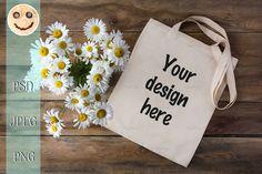 Download Rustic Tote Bag Mockup With Daisy 365557 Mockups Design Bundles Free Packaging Mockup Design Mockup Free Psd Template Free