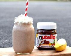 Healthy Banana Nutella Smoothie Recipe   14 Game-Changing Nutella Recipes You Need Try Now   Best Collection Of Sweet Treats by Homemade Recipes at http://homemaderecipes.com/entertaining/14-nutella-recipes/
