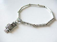 owl chain link bracelet