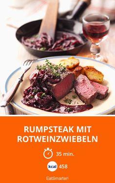 Rumpsteak mit Rotweinzwiebeln - smarter - Kalorien: 458 kcal - Zeit: 35 Min.   eatsmarter.de