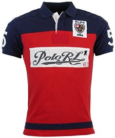 9183be9081189 Polo Ralph Lauren Mens Custom Fit Mesh Pieced Polo Shirt - XXL -  Red Navy White at Amazon Men s Clothing store