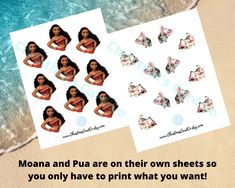 Moana Cupcake Toppers, Disney Princess Cupcakes, Disney Party Decorations, Baby Closet Organization, Pua, You Are Amazing, Girl Nursery, Make It Yourself, Digital