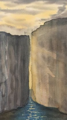 An early experimentation about two cliffs My Arts, Painting, Painting Art, Paintings, Painted Canvas, Drawings