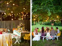 relaxed alfresco party with friends