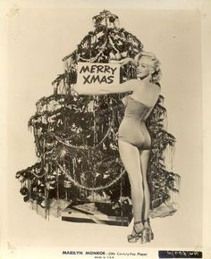 Marilyn Monroe would like to wish you a Merry Christmas!  vintage Christmas in Hollywood photo