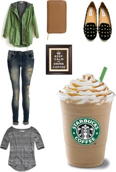 """""""drink some coffee and forget problems"""" by nievesugarte ❤ liked on Polyvore"""