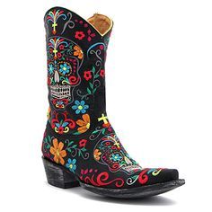 "Old Gringo 10"" Klak Sugar Skull Boot at Maverick Western Wear"