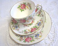 Vintage Royal Stafford Tea Trio Rochester by TheWhistlingMan