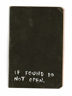 if found do not open
