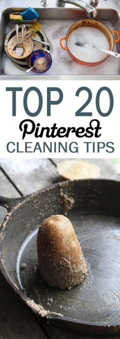 Top 20 Pinterest Cleaning Tips - 101 Days of Organization