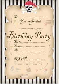 pirate themed birthday party with free printables  birthdays, party invitations
