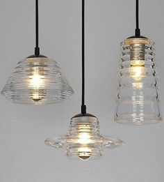 #hanglamp - Pressed Glass Light. Klassiek, nostalgische uitstraling.
