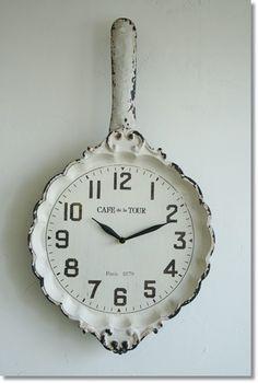 フライパンクロック(NK-43)/アンティーク雑貨壁掛け時計COVENTGARDEN(コベントガーデン)