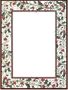Holly Twist Laser Invitations Print your holiday invites on these festive, holly bordered cards. PRODUCT INFORMATION: Laser Invitations with Red Foil Border x 10 Invitations with Envelopes Christmas Border, Christmas Frames, Christmas Pictures, Christmas Labels, Christmas Graphics, Christmas Printables, Borders For Paper, Borders And Frames, Borders Free