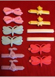 barrettes...I actually found a ton of mine and will happily use them in my daughters hair :)