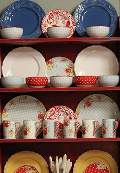 coordinating items at Replacements to match the dishes I got from Marshalls