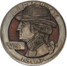 Paolo Curcio hobo nickels. Amazing tiny reliefs made of coins