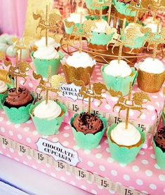 {Vintage Sparkle} Cupcakes & Carousels Birthday Party // Hostess with the Mostess®