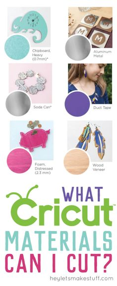 Most people think the Cricut Explore is for cutting paper and vinyl. But it can cut so much more than that! Let's take a look at some of the more than 100 Cricut Explore materials and a few things you can make with them.